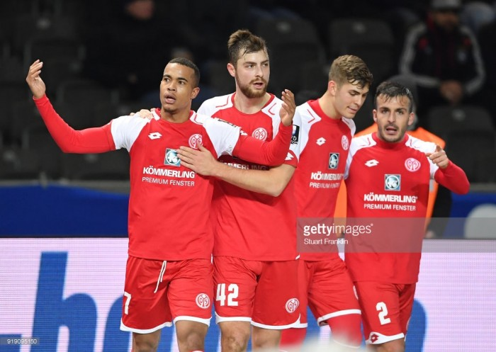 Hertha BSC 0-2 1. FSV Mainz 05: Robin Quaison double eases pressure on Sandro Schwarz