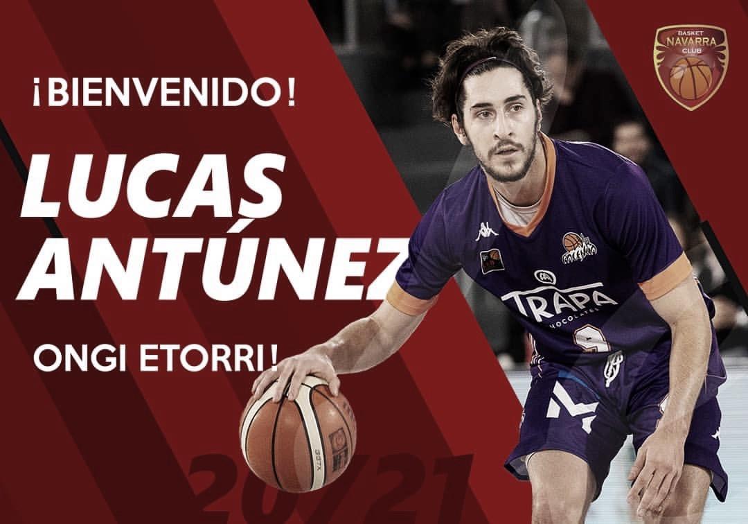 Basket Navarra anuncia la contratación de Lucas Antúnez