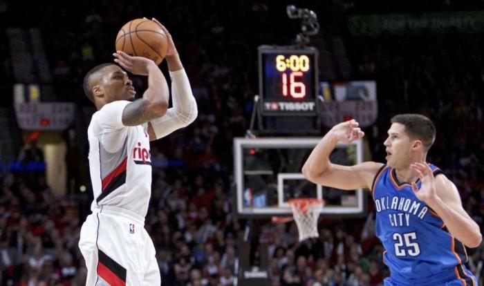 NBA - A OKC non basta Westbrook, passano Lillard e i Trail Blazers (114-109)