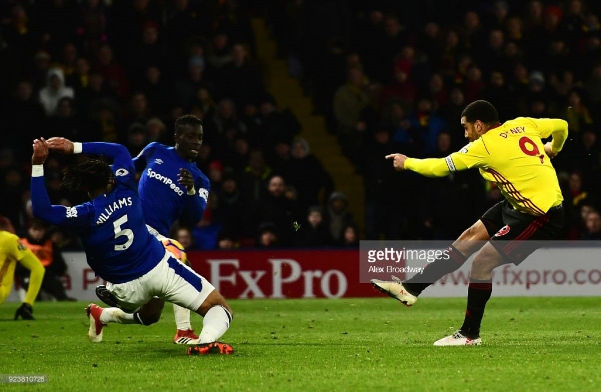 Watford 1-0 Everton: Late Deeney strike separates sides in dire affair