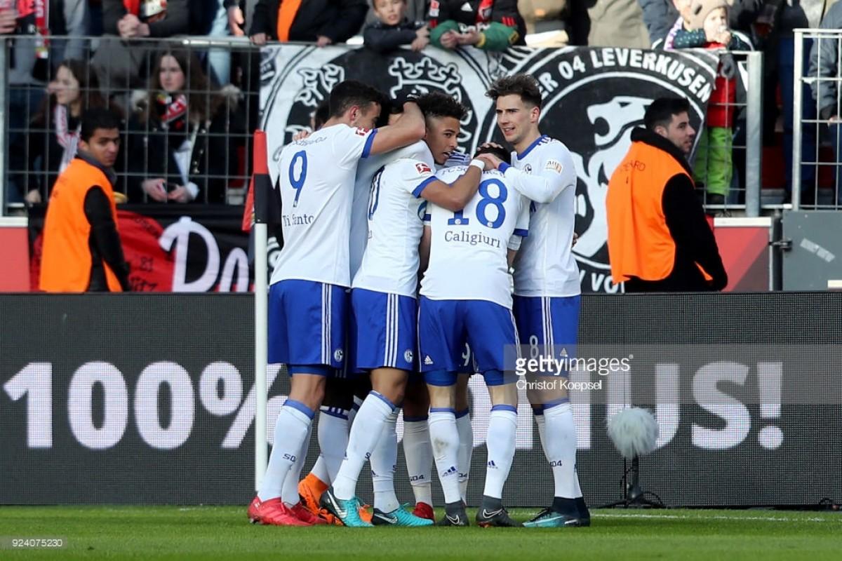 Bayer Leverkusen 0-2 Schalke 04: Royals Blues make heavy weather of beating ten-man Werkself