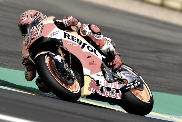 Marc Márquez única alegría española en los libres de MotoGP en Le Mans