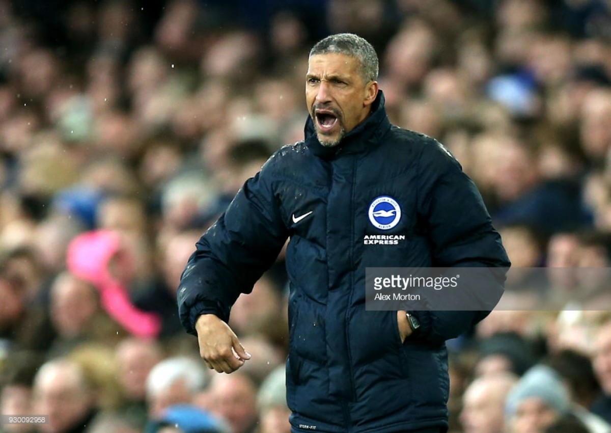 Chris Hughton says he is