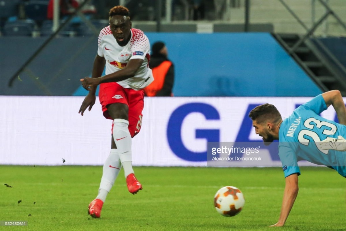 Zenit Saint Petersburg (2) 1-1 (3) RB Leipzig: Jean-Kévin Augustin helps send visitors into last-eight