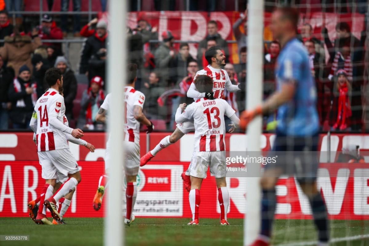 1. FC Köln 2-0 Bayer Leverkusen: Derby day win lifts Billy Goats off the bottom