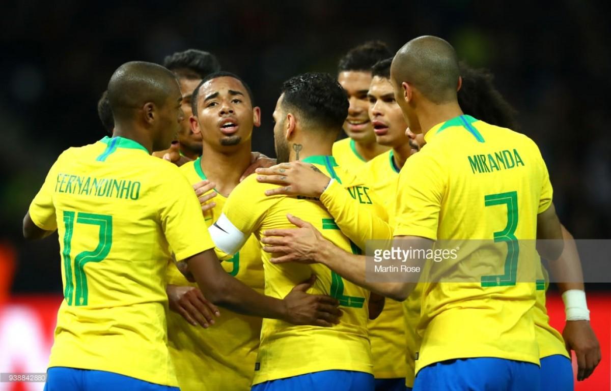 Germany 0-1 Brazil: Jesus' header heals some Brazilian wounds against jaded Germans
