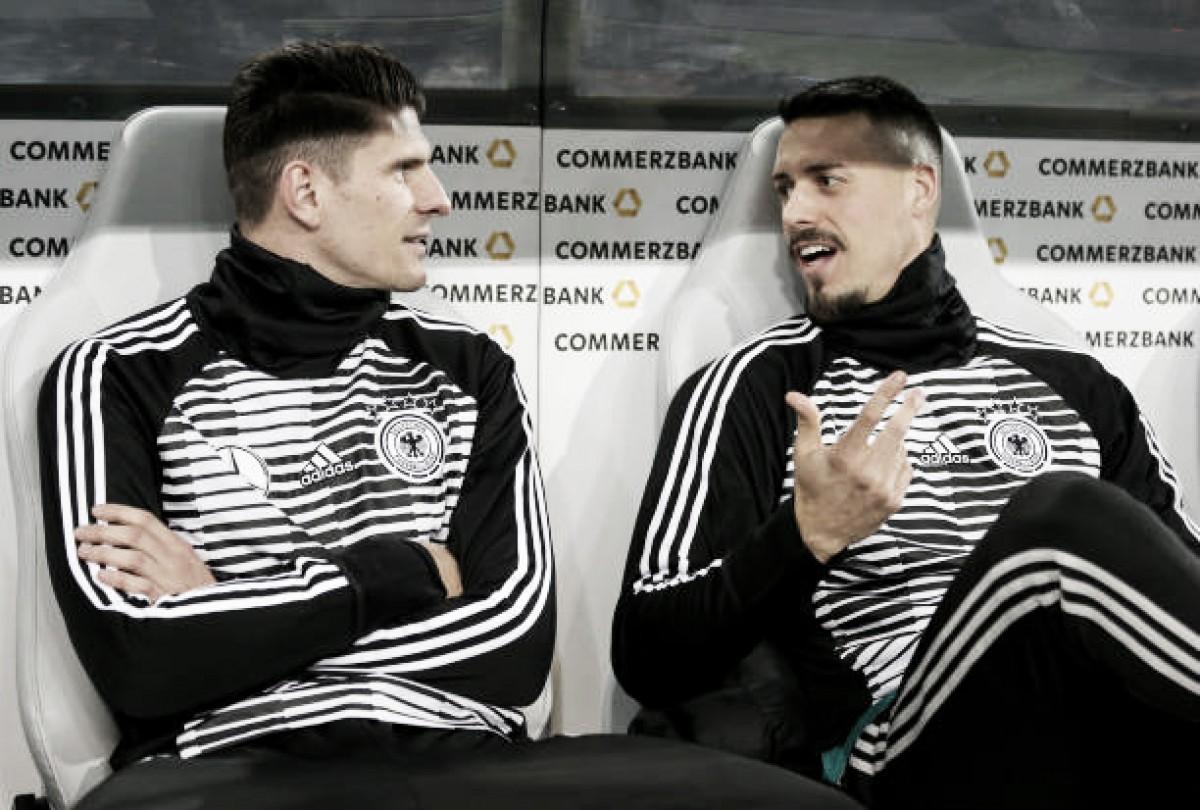 "Atacante Mario Gomez lamenta ausência de Sandro Wagner: ""Levaria à Copa do Mundo"""