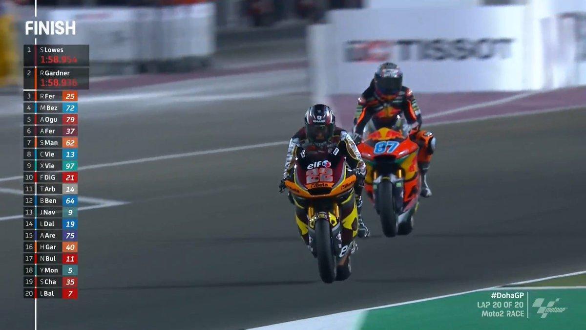 Gp Doha: La Moto2 sembra avere un padrone. Seconda vittoria per Lowes