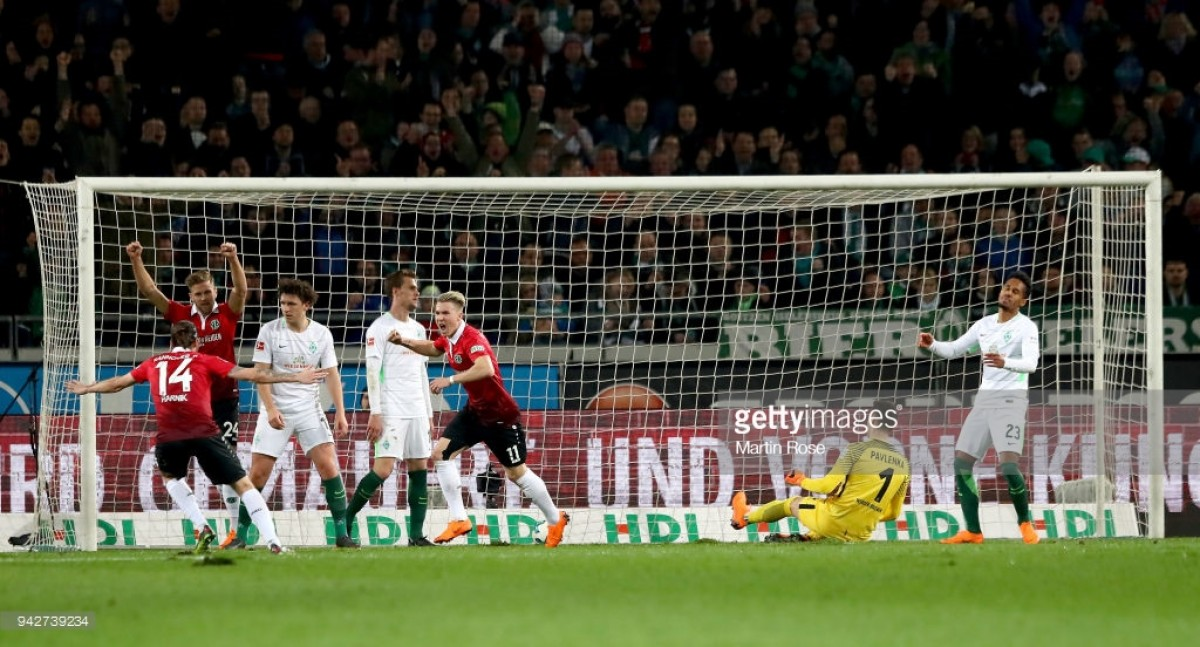 Hannover 96 2-1 Werder Bremen: Martin Harnik and Felix Klaus end hosts' losing streak