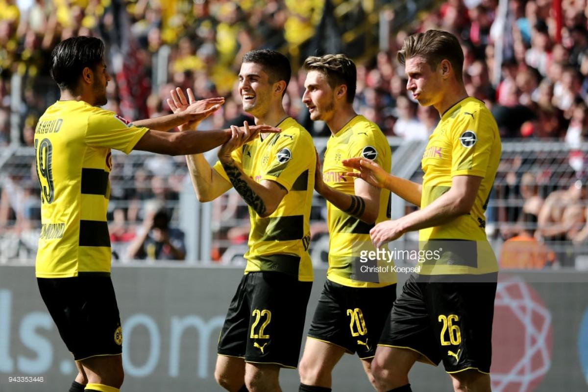 Borussia Dortmund 3-0 VfB Stuttgart: Pulisic inspires nervous Dortmund to victory over brave visitors