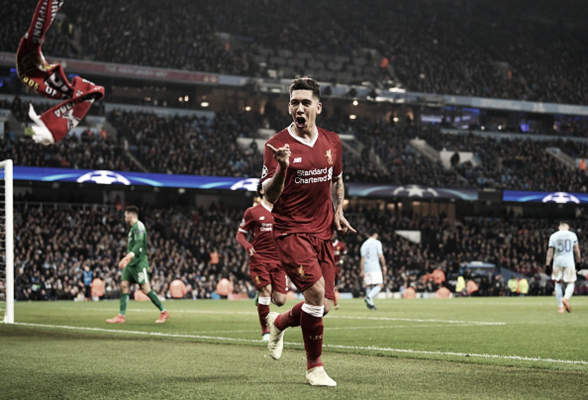Salah e Firmino marcam, Liverpool vira sobre City e volta às semis da Champions após dez anos