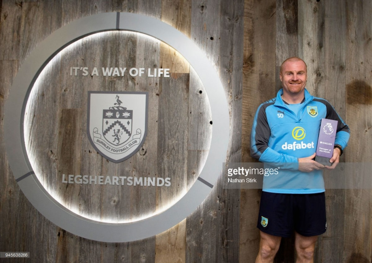 Sean Dyche wins Premier League Manager of the Month award