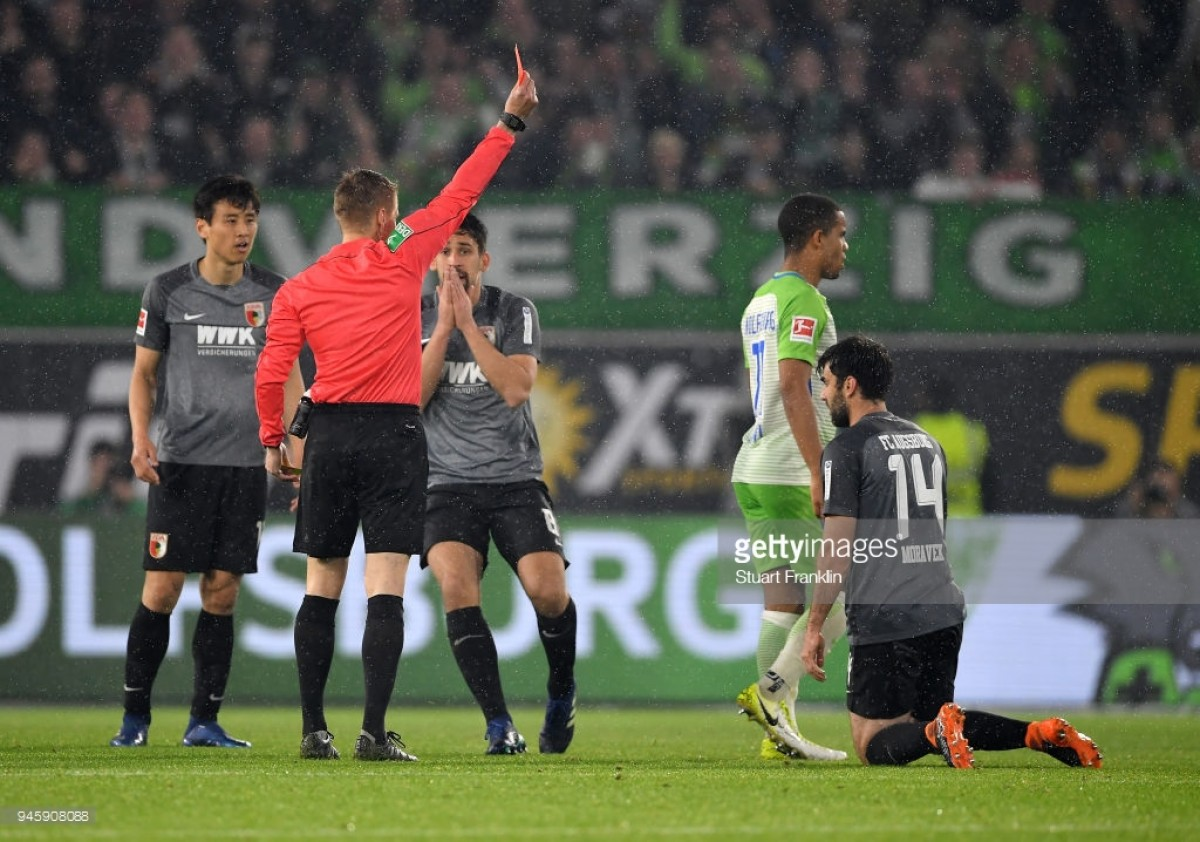 VfL Wolfsburg 0-0 FC Augsburg: Both sides see red as Wolves fail to ease relegation concerns