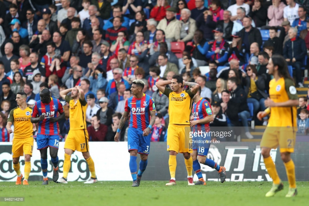 Chris Hughton 'disappointed' by Brighton's first-half defending in Palace derby defeat