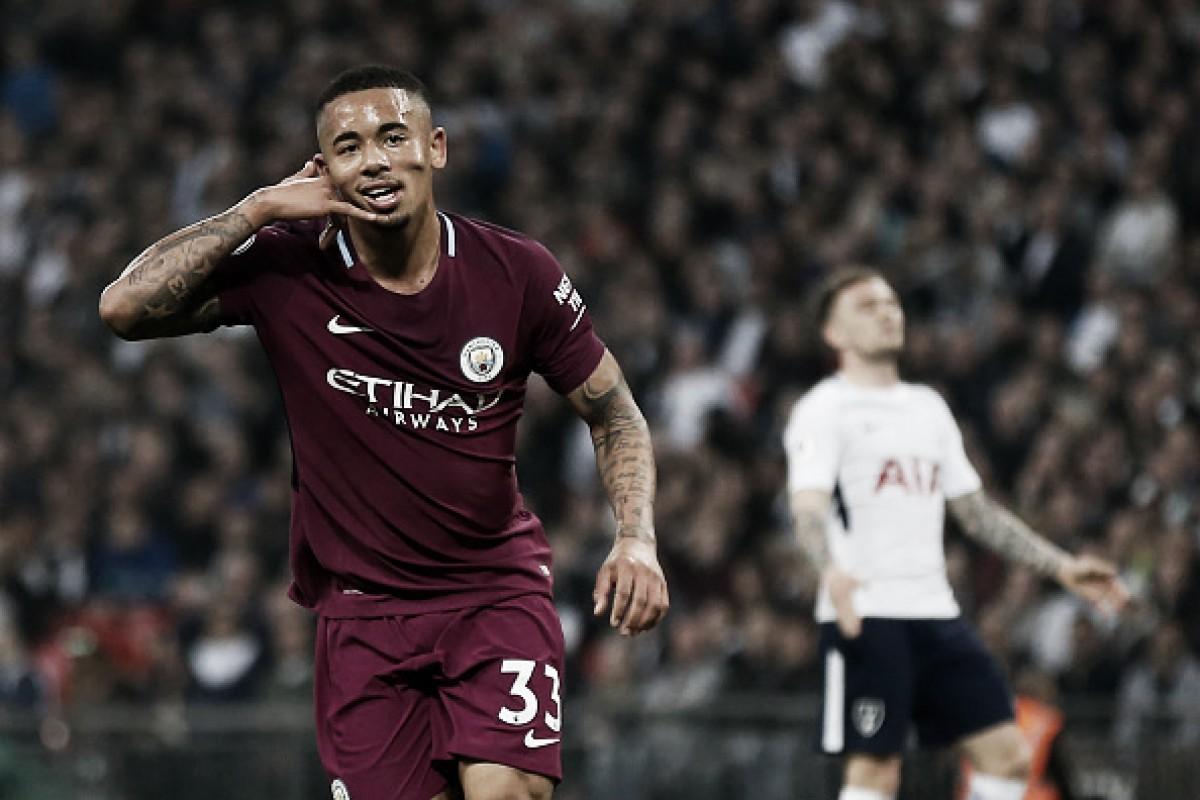 Jesus marca, City quebra longa invencibilidade do Tottenham e seca United para conquistar título