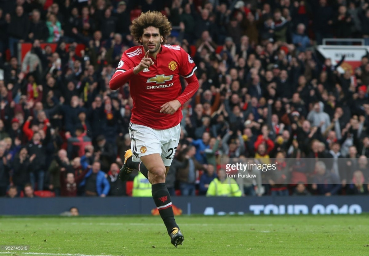 Manchester United 2-1 Arsenal: Late Fellaini header leaves Wenger woeful on final Manchester trip