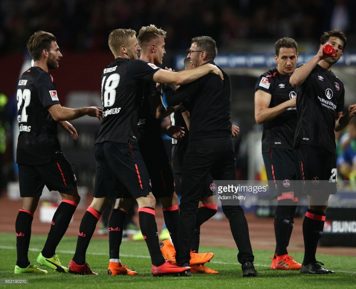 1. FC Nürnberg 2-0 Eintracht Braunschweig: Der Club one win away after beating tamed Lions