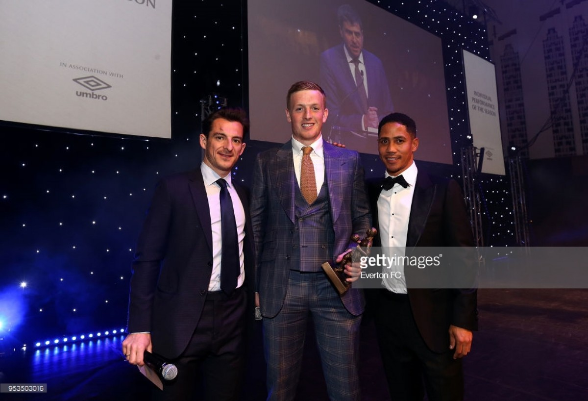 Jordan Pickford scoops Everton end of season awards treble with Player of the Season honours