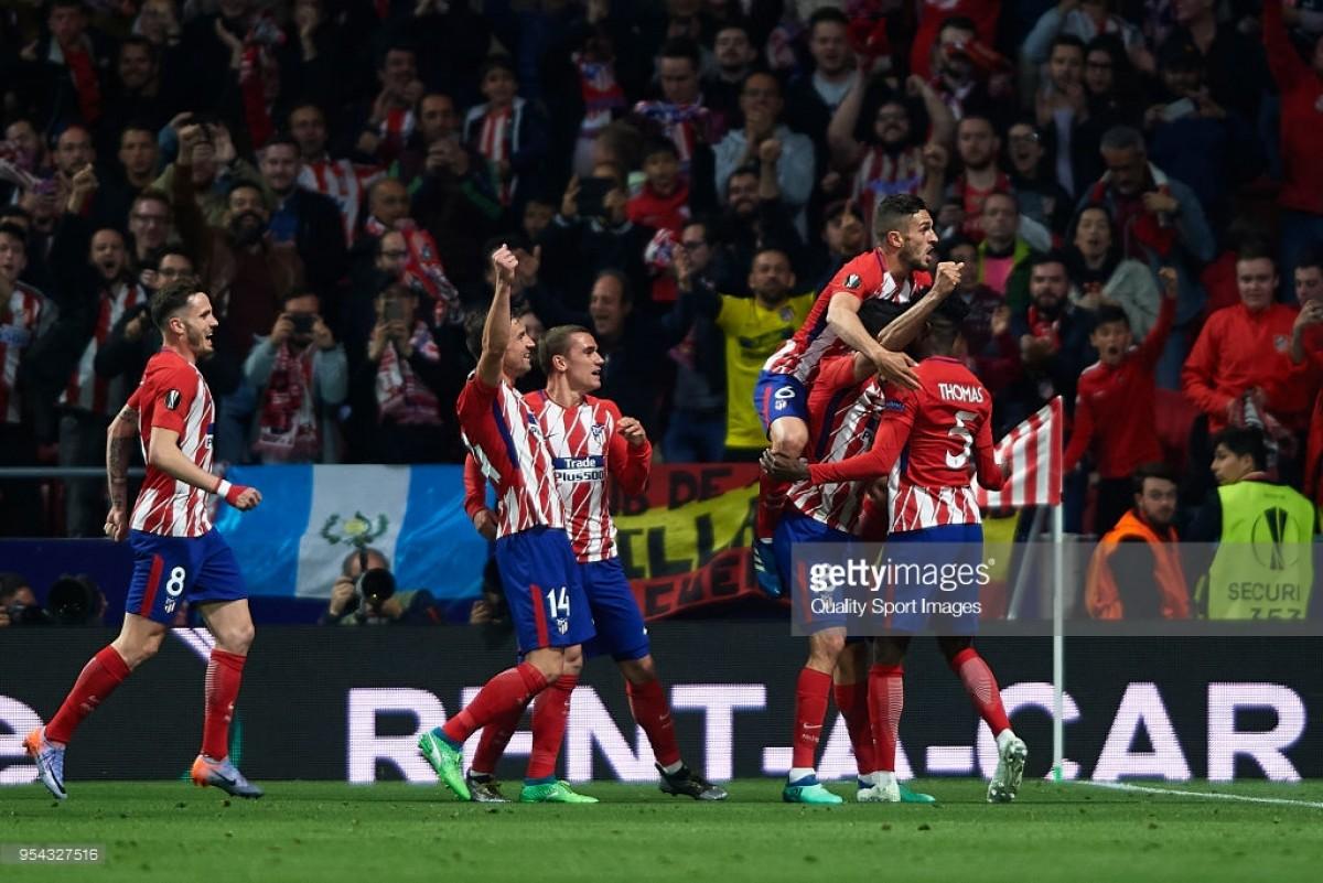 Atlético Madrid (2) 1-0 (1) Arsenal: Diego Costa deniesArsène Wenger a Europa League send-off