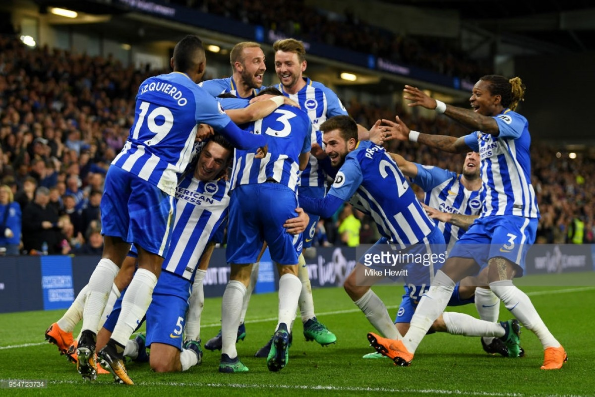 Brighton and Hove Albion 1-0 Manchester United: Seagulls secure Premier League safety with win