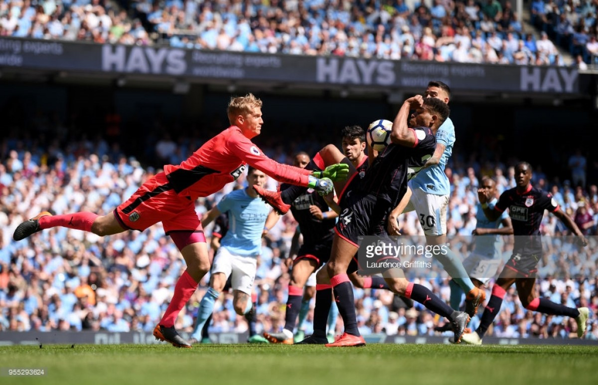 Manchester City 0-0 Huddersfield Town: Spirited Terriers clinch huge point on coronation day