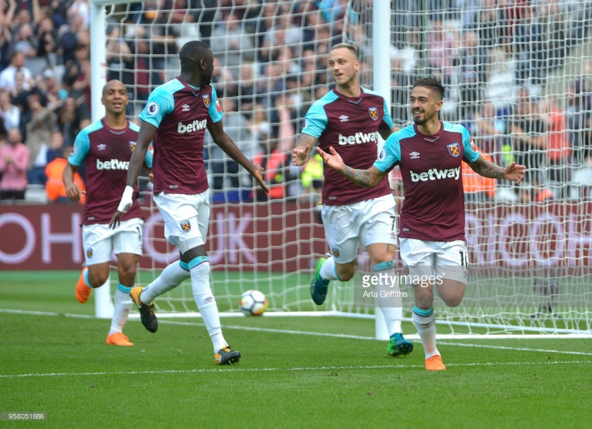 West Ham United 3-1 Everton: Lanzini brace secures final day win for Hammers against abject Blues