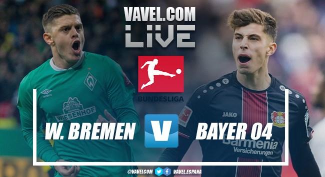 Resumen de SV Werder BremenvsBayer 04 Leverkusen EN VIVO y en directo online en Bundesliga 2020