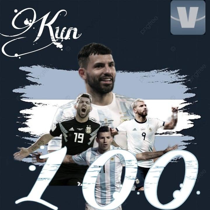 """El """"Kun"""" Agüero llegó a los 100 partidos con la Selección Argentina"""