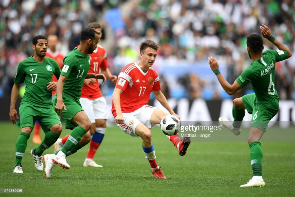 Rússia (5) x (0) Arábia Saudita, assim vivemos o jogo inaugural do Mundial'2018