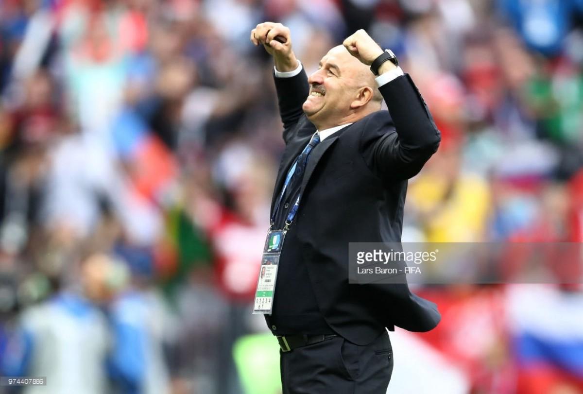 Stanislav Cherchesov and Denis Cheryshev enjoy dream start at World Cup