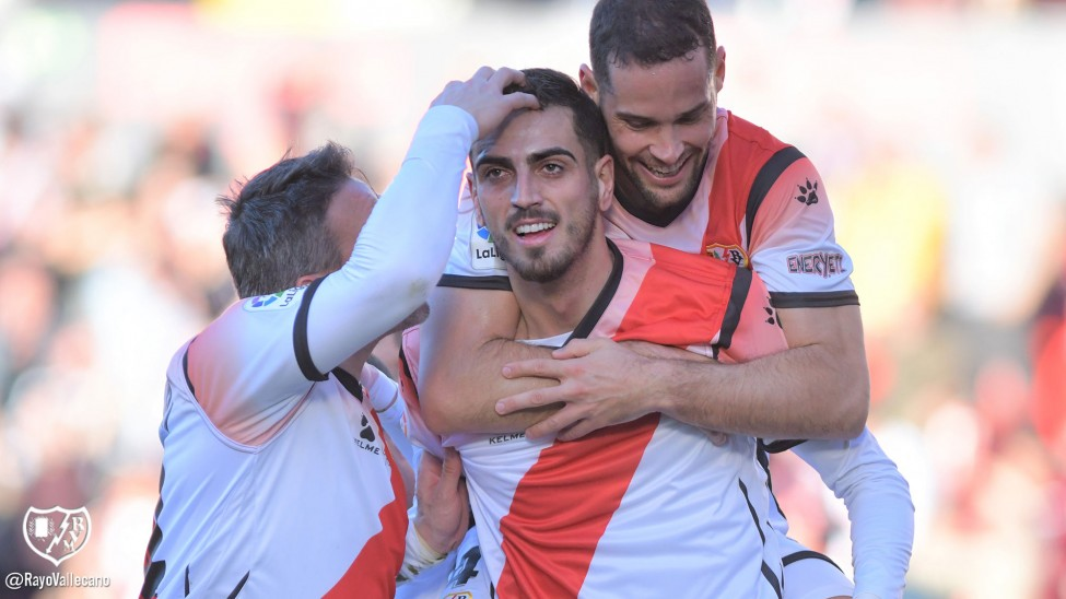 Catena, mejor jugador del Rayo Vallecano en el primer partido del 2020