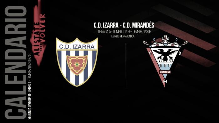 Previa. CD Izarra - CD Mirandés: a por los tres puntos