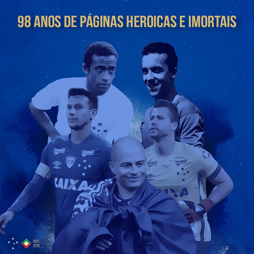 Cruzeiro comemora 98 anos de muitas vitórias e títulos importantes