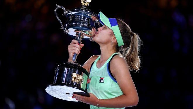 Australian Open: Sofia Kenin beats Garbine Muguruza to win title