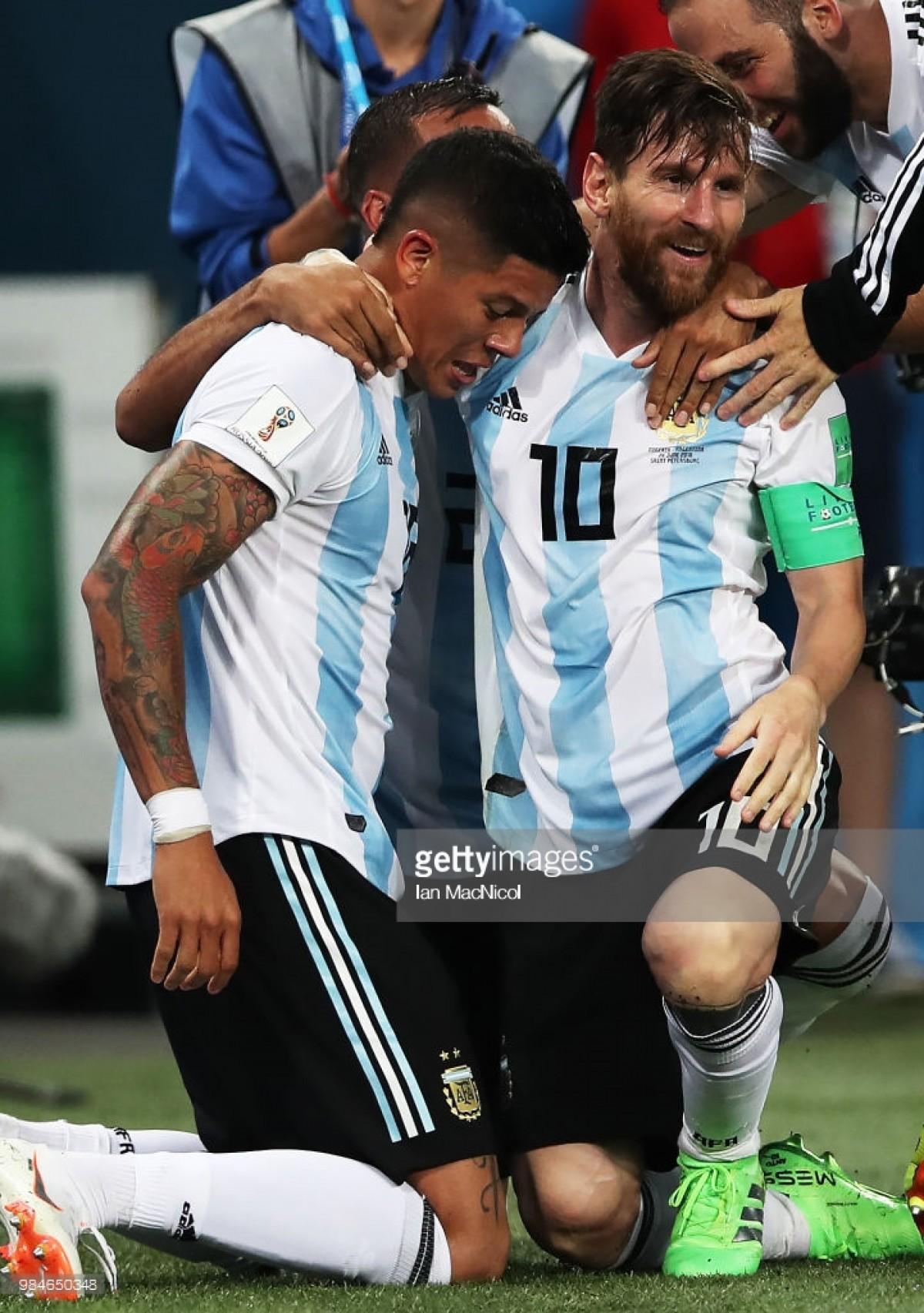 Herói improvável: Rojo coloca Argentina nos oitavos de final