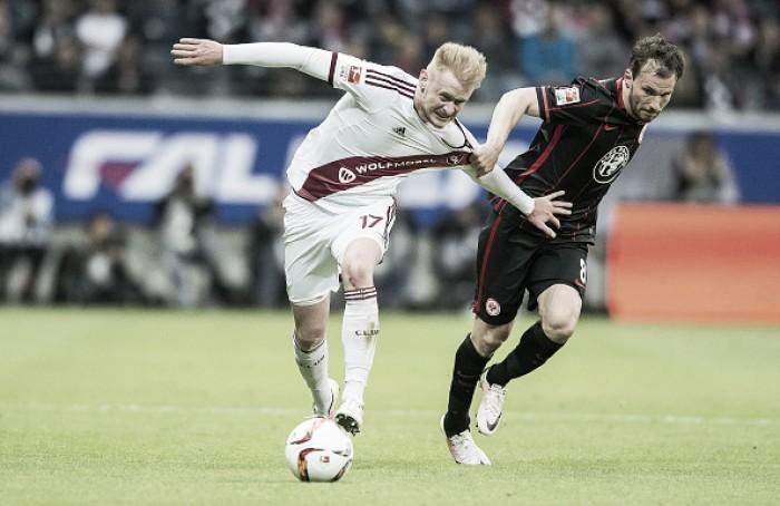 Russ marca contra e Eintracht Frankfurt fica no empate em casa contra Nuremberg