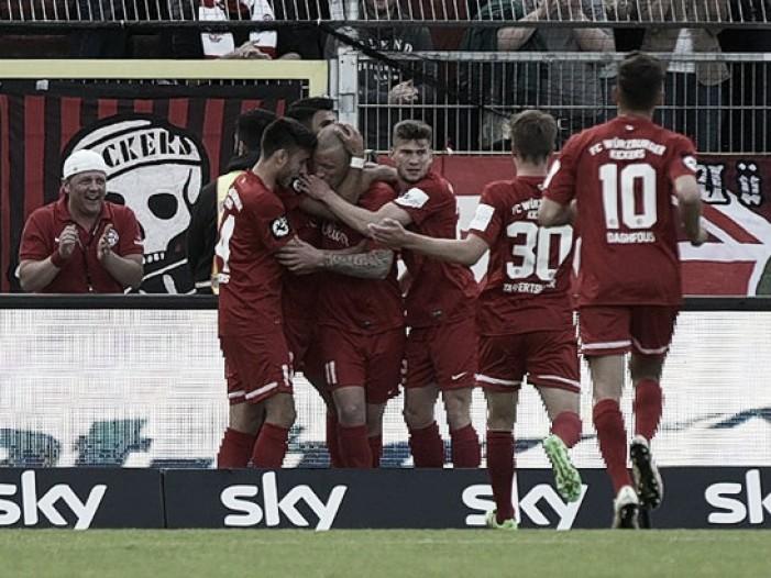 Würzburger Kickers faz dever de casa e derrota Duisburg nos playoffs da 2. Bundesliga
