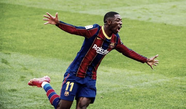 Ousmane Dembélé supera Ludovic Giuly y ya es el tercer máximo goleador de la historia del Barça