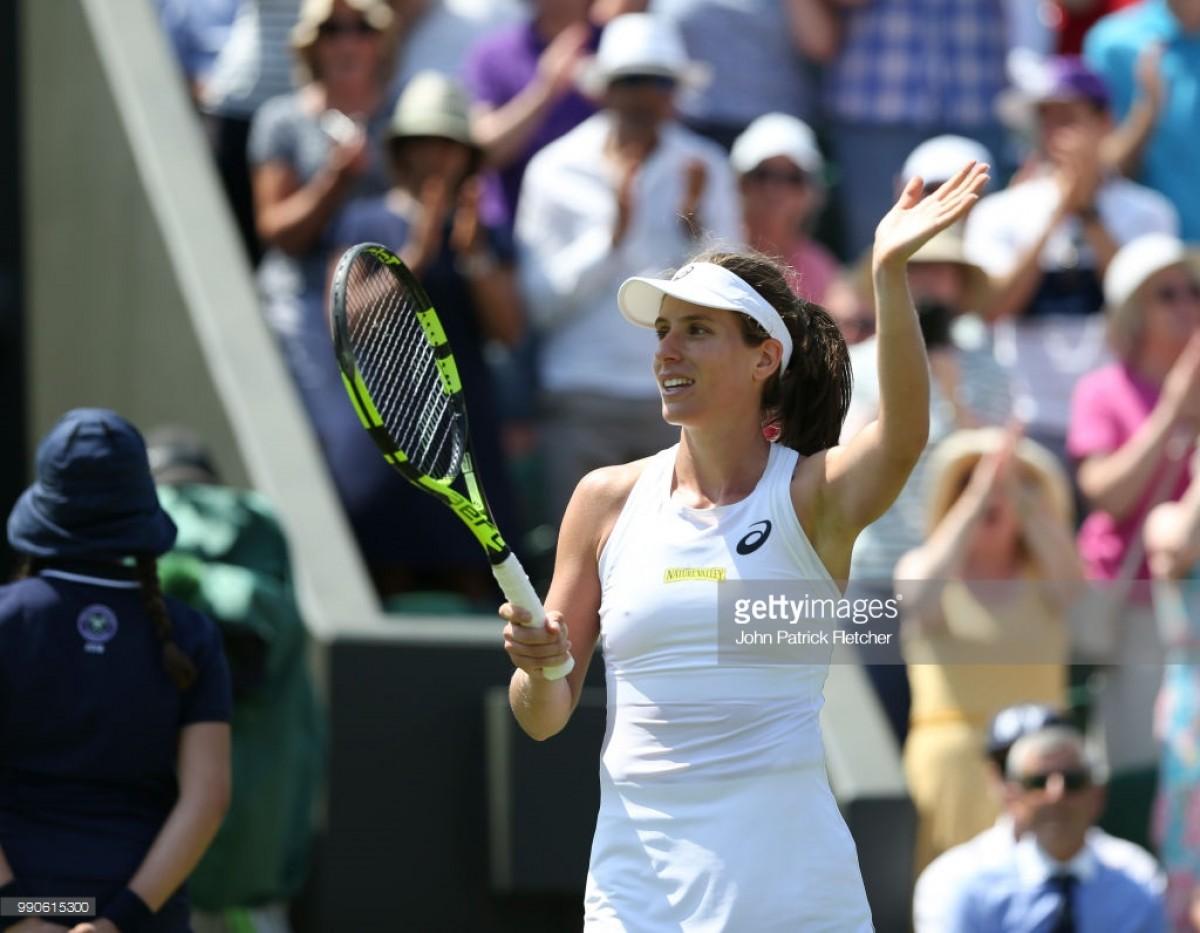 Wimbledon 2018: Johanna Konta gets past Natalia Vikhlyantseva in straight sets