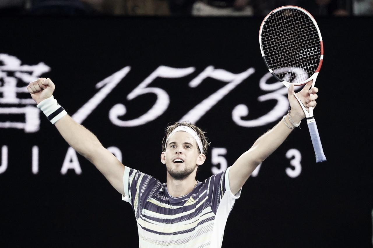 Thiem vence batalha diante de Nadal e avança à semifinal do Australian Open