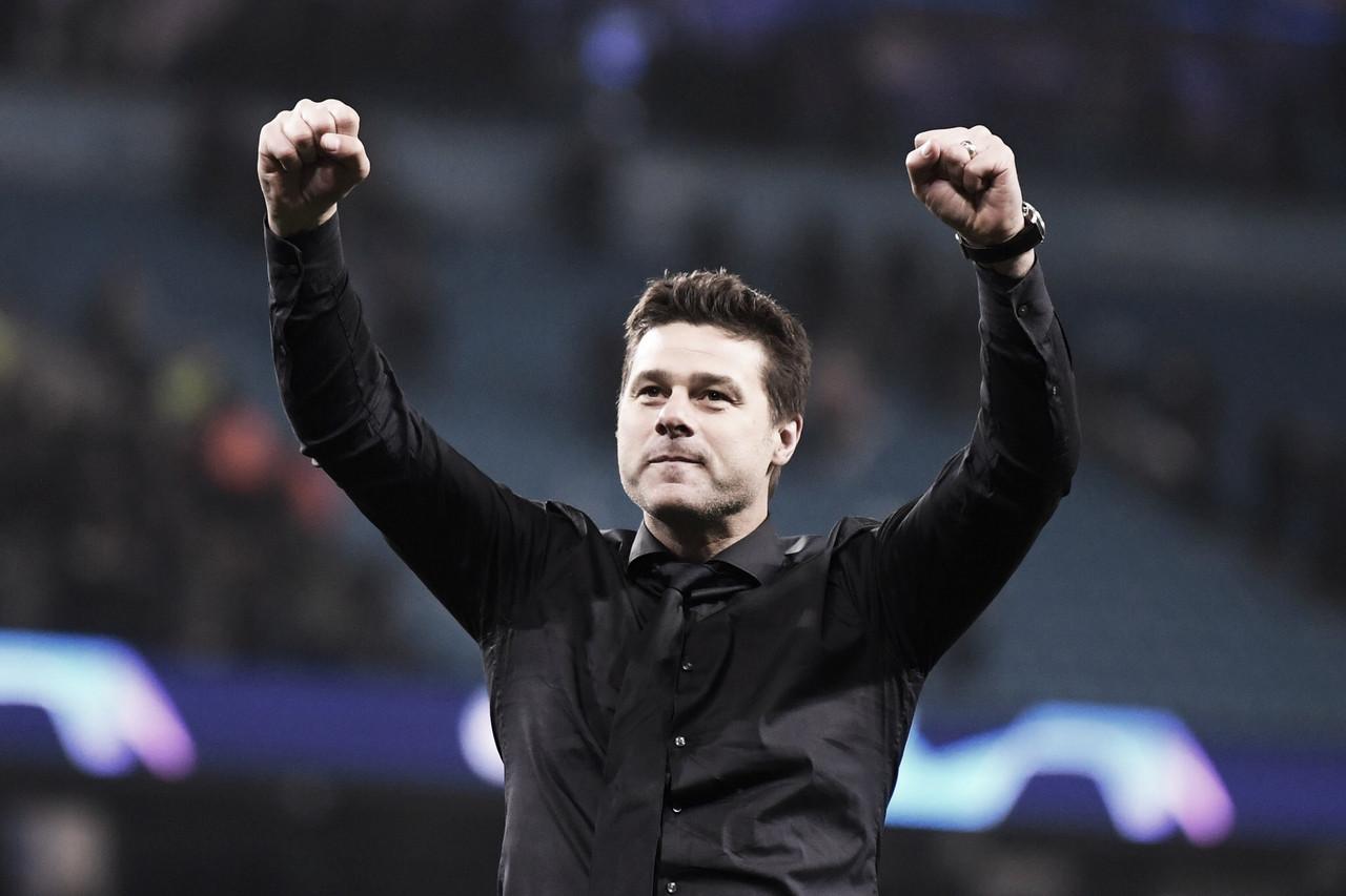 """Pochettino exalta jogadores do Tottenham e comemora classificação contra o City: """"Incrível"""""""