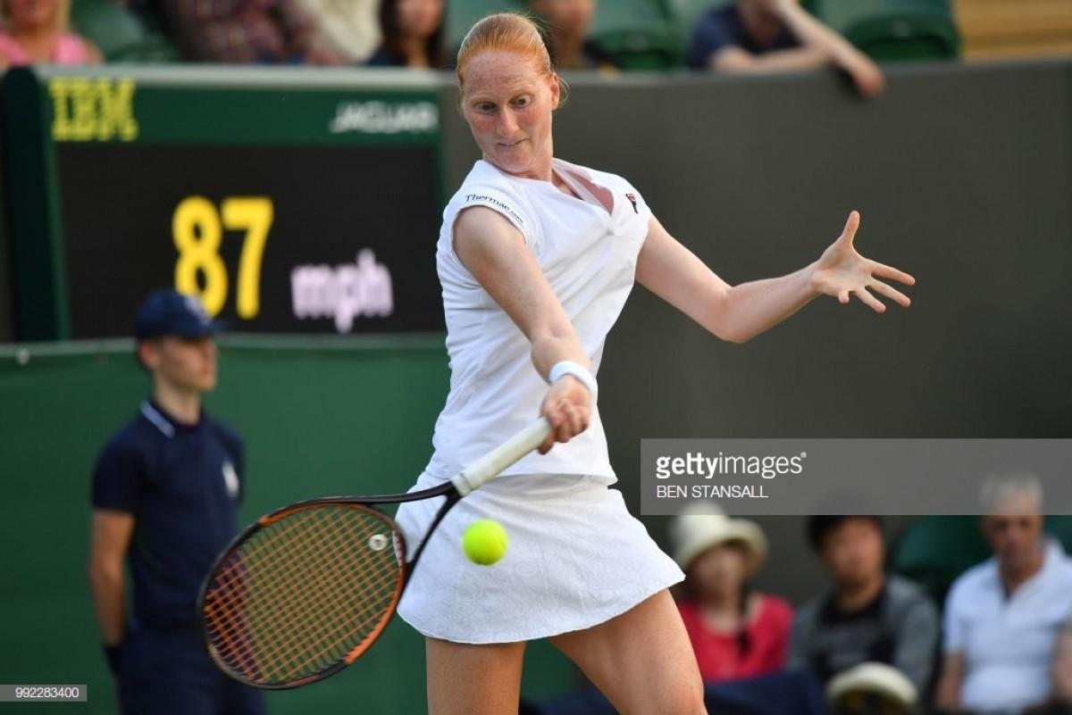 "2018 Wimbledon: Alison Van Uytvanck: ""I was in the zone"" during upset of Garbine Muguruza"