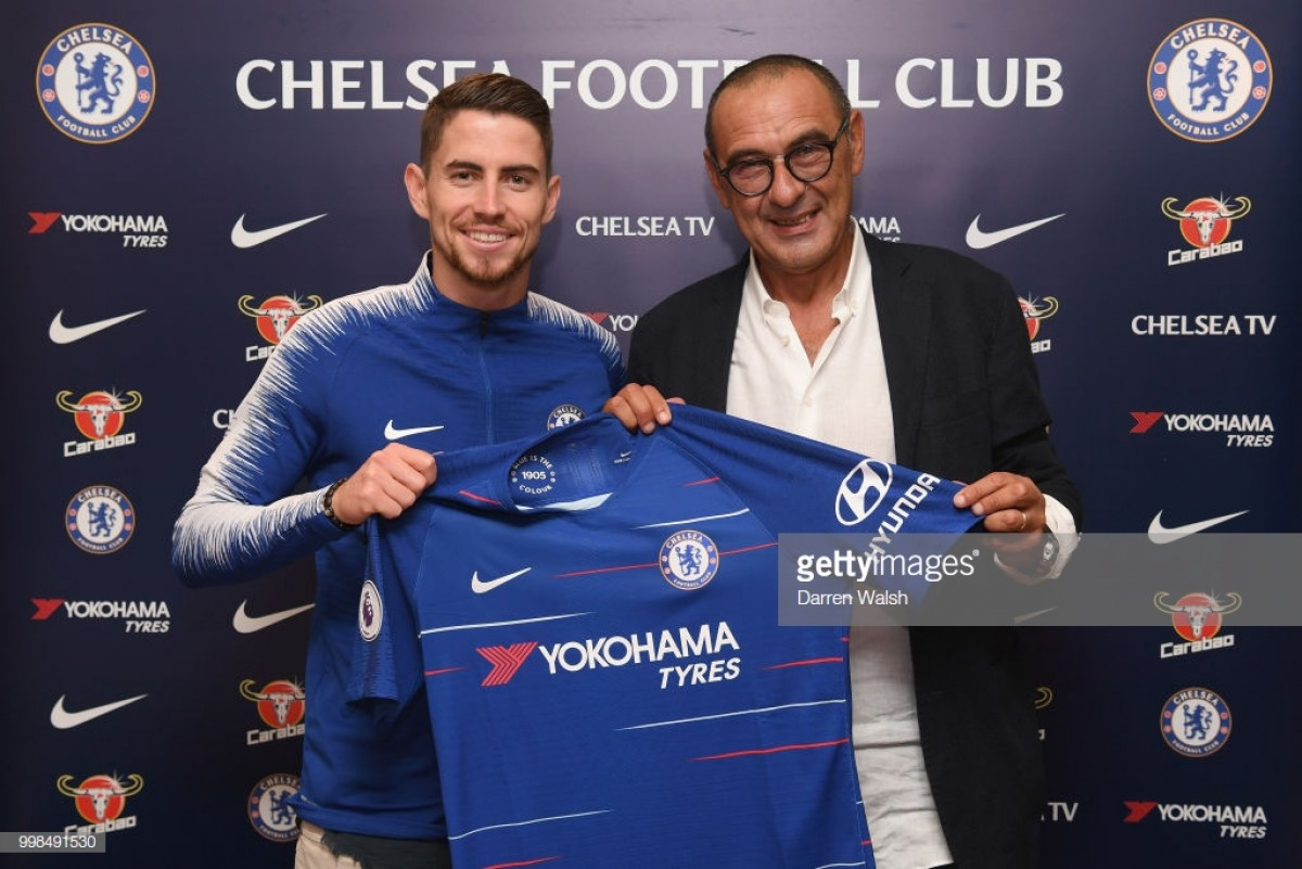 Maurizio Sarri finally installed as Chelsea boss as Jorginho signs too