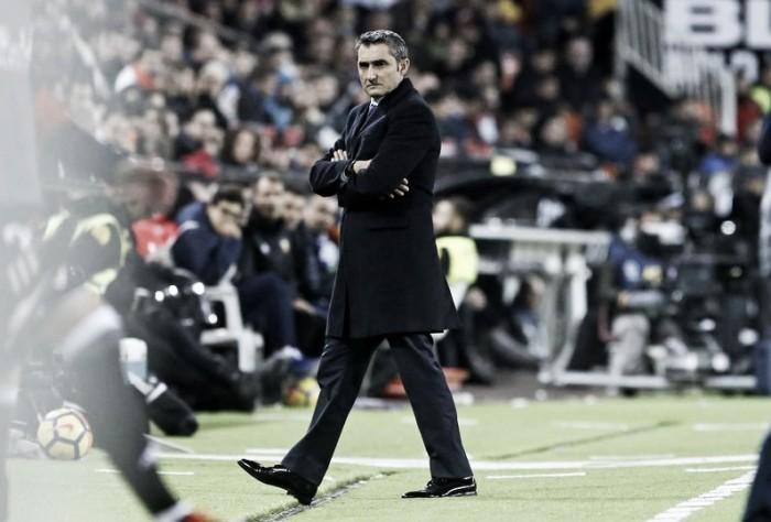 Valverde poupa críticas à arbitragem e exalta reação do Barcelona para empatar a partida
