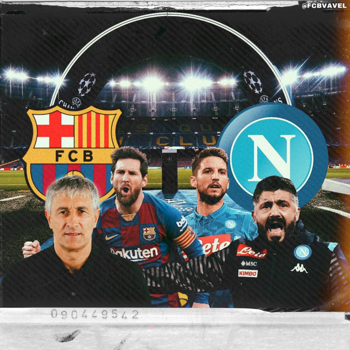 Barcelona vs Napoli en vivo y en directo online en la UEFA Champions League