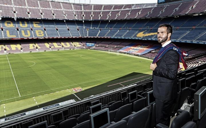 Miralem Pjanić, presentado como nuevo jugador del Fútbol Club Barcelona