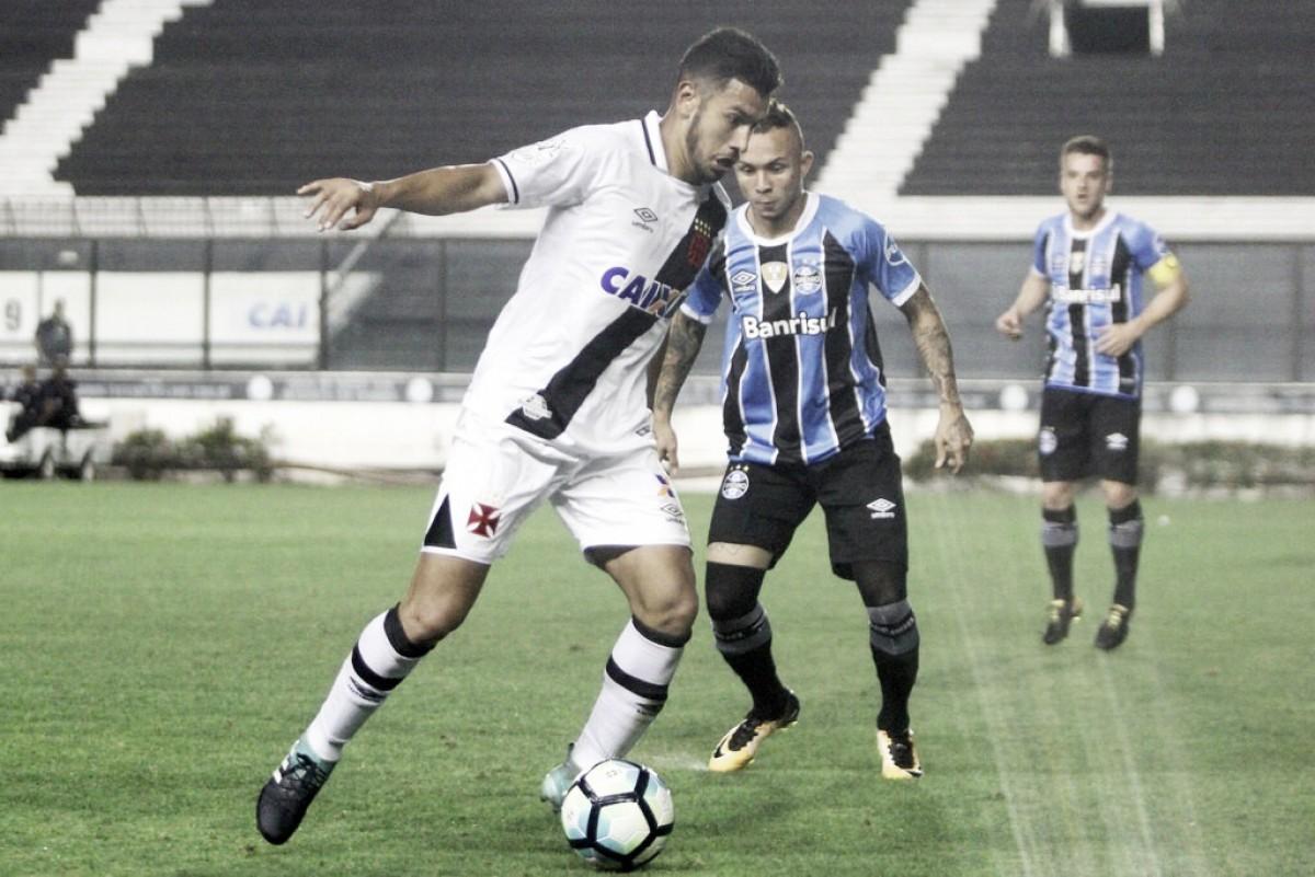 Vasco e Grêmio se enfrentam em momentos opostos no Brasileirão