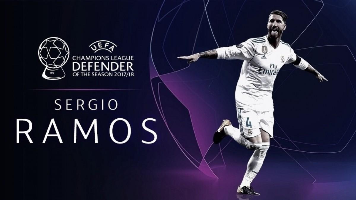 Pelo segundo ano consecutivo, Sérgio Ramos é eleito melhor defensor da Europa