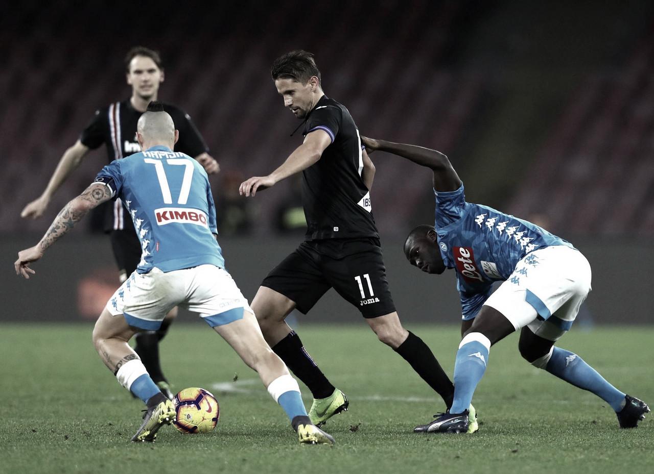 Napoli vence Sampdoria com autoridade e diminui diferença para Juventus