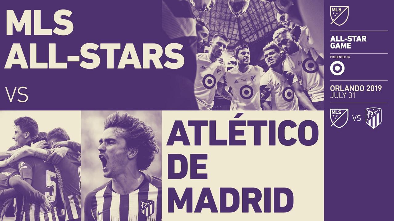 Atlético de Madrid será el rival del MLS All-Star 2019